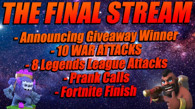 MY FINAL STREAM UNTIL SUMMER! | Clash Of Clans | Townhall 13 | War Attacks | Fortnite | CoC 2020 |