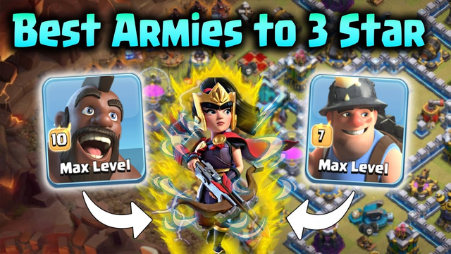 Best Armies to 3 Star Every Town Hall 13 Base in Clash of Clans | Clan War Attack Strategy Guide