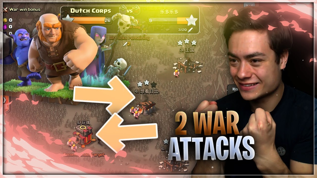 LIVE 2 WAR ATTACKS DOEN!! - Clash of Clans