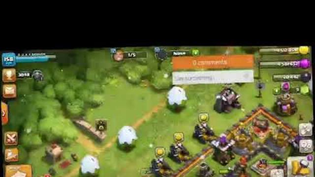 My Clash of Clans livestream using DU Recorder