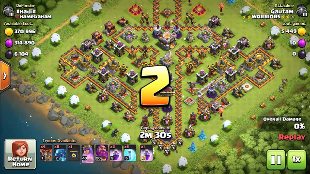 Clash of clans: Max townhall 11 destroyed Amazing base.