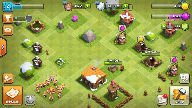 Let's Play Clash of Clans (Episode: 1 - My Little TH2 Base)