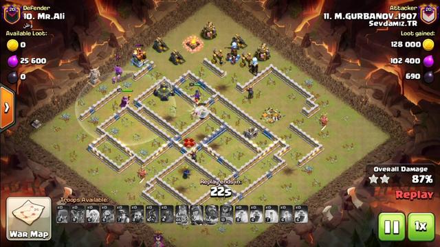 New Popular Army Attack TH13!Miner Hogs+SB Smashing 3 Stars Clan War TH13(clash of Clans