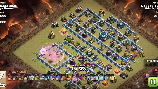 Town Hall 13 Clash of Clans Top Push Army In Action 3 Star Attack