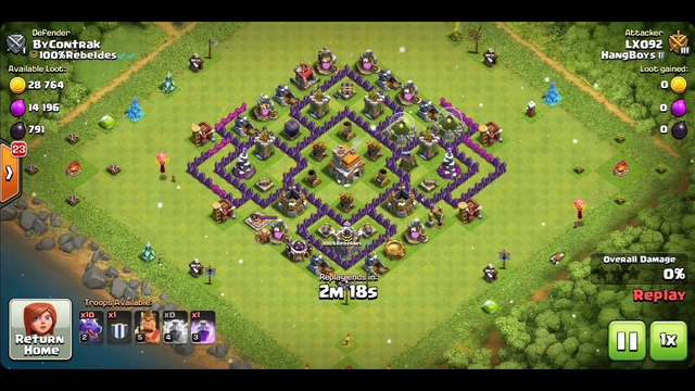 Clash of clans town hall 7 attacks / LX Gaming