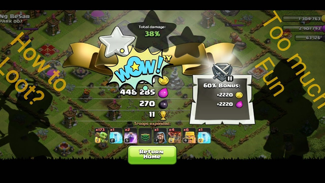 Clash of clans just loot and too much gold yeah!!!