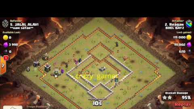 Clash of clans clan war attack 100% enemies destroyed