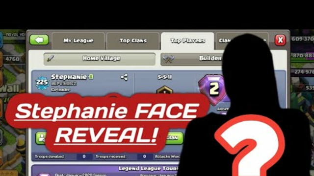 Stephanie FACE REVEAL IN CLASH OF CLANS