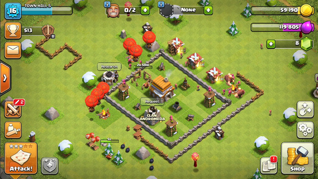 Clash of Clans l TOWN HALL 5 Attack strategy  with low level troops.
