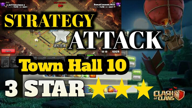 strategy Attack Town Hall 10 Queenwalk+lavaloon CLASH OF CLANS