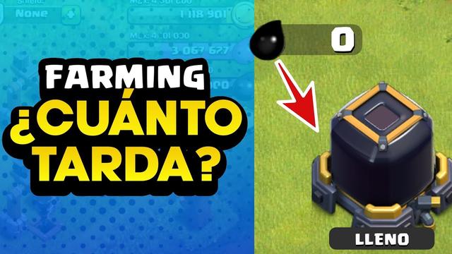 CUANTO TARDO EN FARMEAR ALMACEN OSCURO? | FARMING CLASH OF CLANS