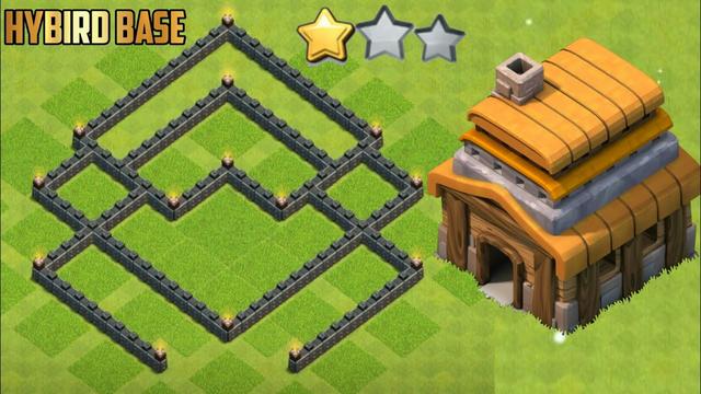 Clash Of Clans Town Hall 6 (th6) hybrid base | Zero Star Base - coc
