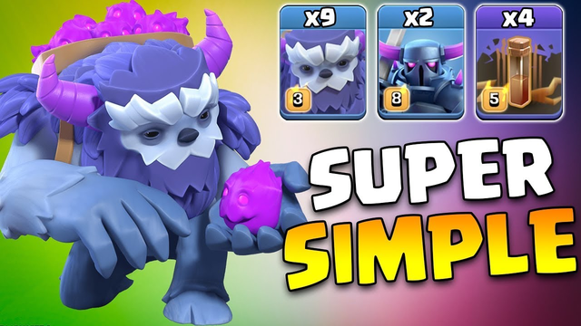 New YETI PEKKA Strategy TH13! Super Simple 3 Star ANY Townhall 13 Base | Clash Of Clans