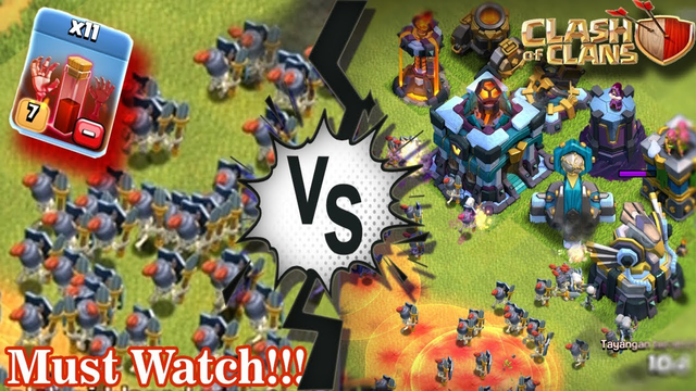 11 Skeleton Spell Max Town Hall 13 VS All Defense Max Town Hall 13 Epic Battle   Clash Of Clans