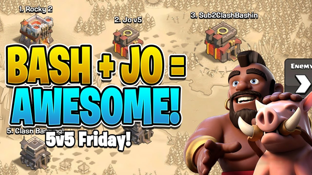 GET TO THE CHOPPA & GET THE TRIPLES! - 5v5 Friday  @Clash Attacks with Jo   - Clash of Clans