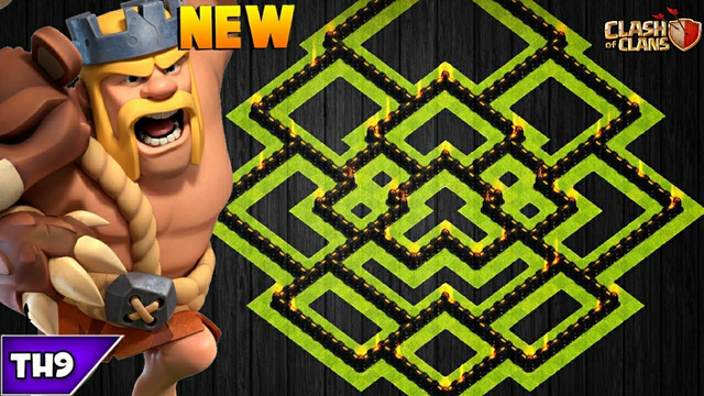 NEW TOWN HALL 9 FARMING/TROPHY BASE 2020! TH9 HYBRID BASE WITH REPLAYS & LINK! - CLASH OF CLANS(COC)