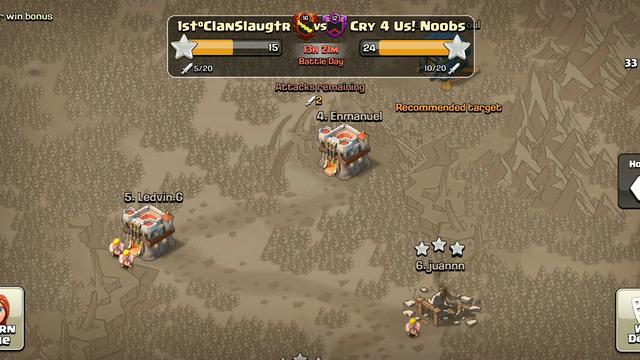 Clash Of Clans war attack... Inferno dies???