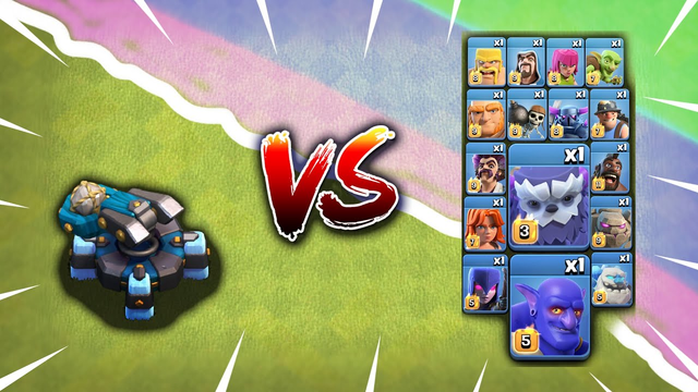 Max Scattershot vs All Max troops | Clash of Clans | No Limits