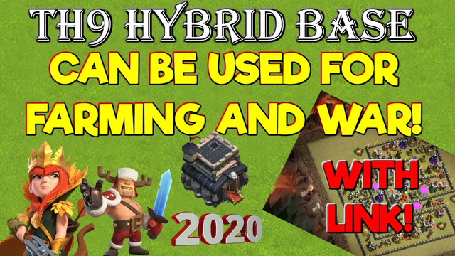 Th9 Anti 3 Star Hybrid Base With Link - Clash of Clans 2020