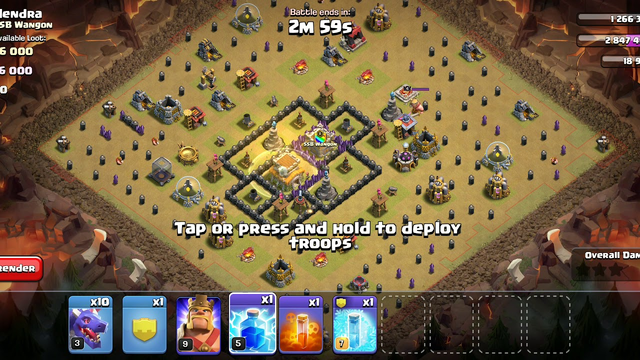 Clash Of Clans with Noob-Gamer Anurag | Clan War Match | Town Hall 8 Full Destruction