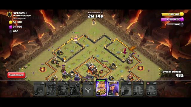 Clash of Clans 5-5 war attack. #clashofclan