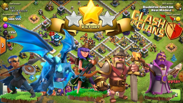 Best Air Attack for 3 Star on Th13 Clash of Clans (Ed Attack) ~ 2