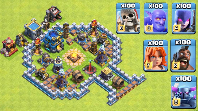 Another Trap VS Troops Video   COC Troops Challenge 2020