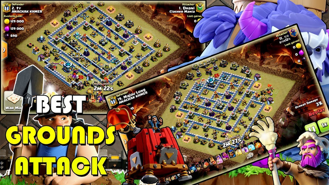GROUNDS ATTACK 2020! TH13 ANY GROUNDS STRATEGY SMASH 3-STAR - CLAN WAR ATTACK ( clash of clans )