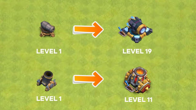 All Levels of Buildings Transformation from TH1 - TH13! Clash of Clans