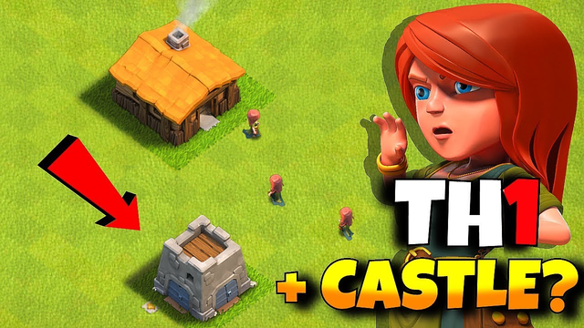 """TOWN HALL 1 w/ CLAN  CASTLE!?! """"Clash Of Clans"""" FARM To MAX!!"""