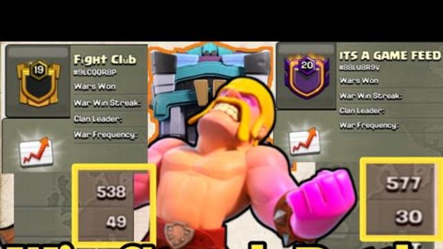 49 Win Streak VS 30 Win Streak | Fight Club vs IT'S A GAME FEED | TH13 WAR ATTACKS | CLASH OF CLANS
