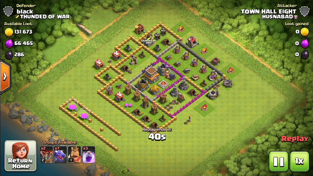 Clash of Clans | TH 8 attack  strategy | attack  history | all dragon lvl 1 attacks.