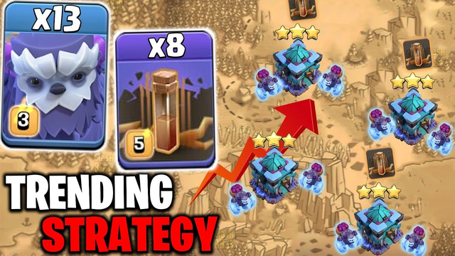 Trending Strategy Now This Time In COC - Mass Yeti Mas Earthquake Attack TH13 - CLASH OF CLANS