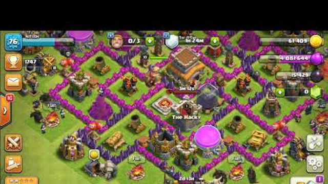 Clash of clans random attack # Town Hall 8