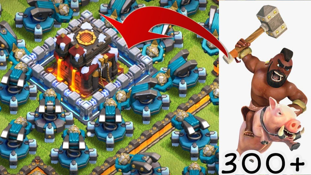 Scattershot Full base Vss Max Hog rider strategy atteck || Coc Funny video ||clash of clan
