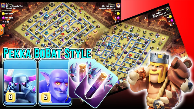 New Style Pekka BoBat 2020 Attack 3 Stars TH13 - Great Attack Clan War ( Clash of Clans )