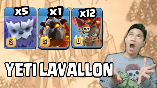COMBO YETI PLUS LAVALON Clash Of Clans