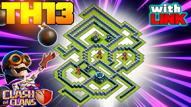 *CRANK* NEW Best Town Hall 13 (TH13) Base 2020 with Copy Link - TH13 War Base - Clash of Clans #68