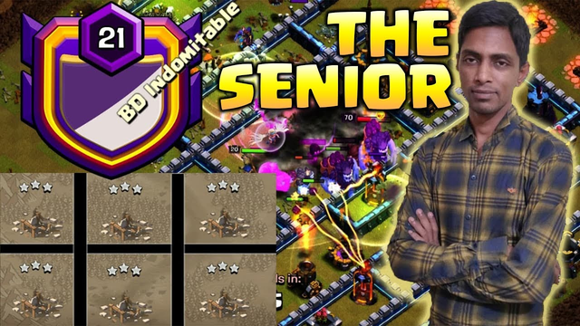 Meet BD Indomitable THE SENIOR!! Most INSANE TH13 War Attack | Clash Of Clans
