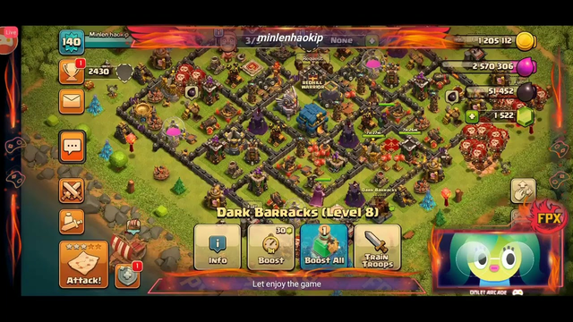 It been a long time I didn't play Clash of clans let play again