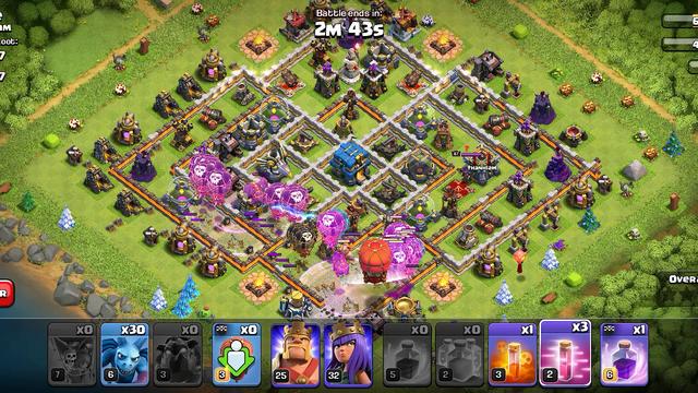 Clash of clans TH 11 99% skill 1% hoki