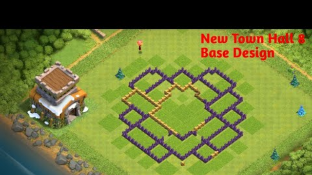 My New Base Design. Town Hall 8 Let's Play| Clash Of Clans |
