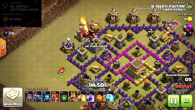 Clash of clans Town Hall 8 best attack