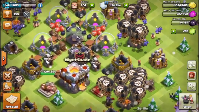 Clash of Clans  Defenseless Base Town Hall 11