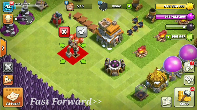Clash of clans town hall 1 to 11 max