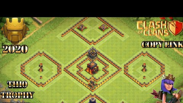 NEW BEST TH10 TROPHY BASE WITH COPY LINK AND REPLAYS||ISLAND BASE||CLASH OF CLANS.