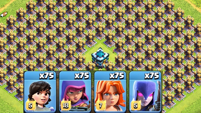 Top 4 Female Troops Raid On Clash Of Clans | Most Satisfying Funny Attack Video COC Private Server