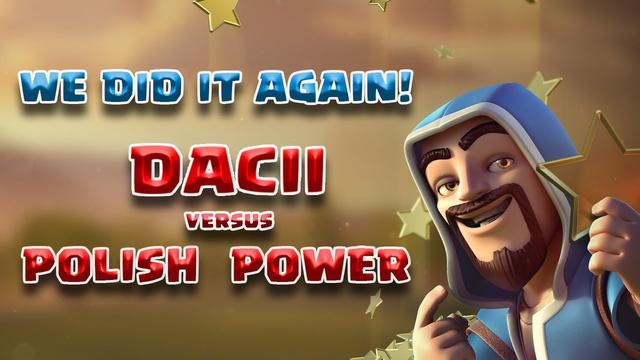 DACII vs POLISH POWER|Hybrid with YETI BLIMP|FULL HOGS &YETI | TH 13 WAR Attacks | Clash of Clans