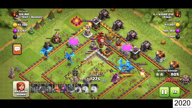 Clash of Clans TH11 EDRG attack | TH11 Edrg attack with 3 star