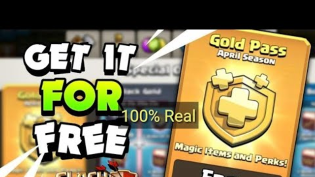 How To Get Free Gold Pass In Clash Of Clans - New Trick